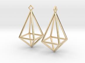 Diamond Earrings #L in 14K Yellow Gold