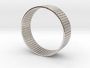 Abstract Bracelet (77 mm-diameter) in Platinum