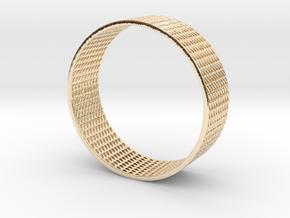 Abstract Bracelet (77 mm-diameter) in 14k Gold Plated Brass