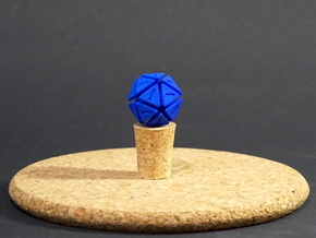 The D20 of Fail in Blue Strong & Flexible Polished