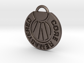 Core Remastered Pendent in Polished Bronzed Silver Steel