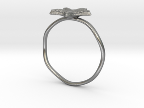 Starfish ring in Natural Silver: 8.5 / 58