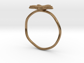 Starfish ring in Natural Brass: 8.5 / 58