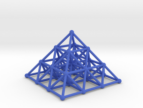 Pyramid Matrix - 3x3 Grid in Blue Processed Versatile Plastic