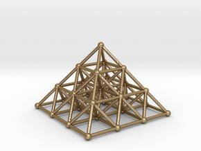 Pyramid Matrix 3x3 Grid in Polished Gold Steel