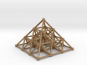 Pyramid Matrix - 3x3 Grid in Polished Brass