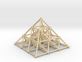 Pyramid Matrix - 3x3 Grid in 14K Yellow Gold