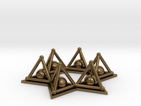 Crystal Merkaba Stargate in Polished Bronze