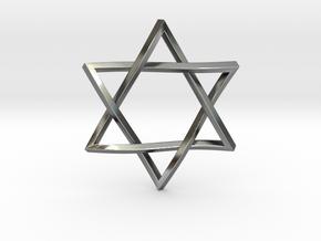 "Penrose Star of David 1"" in Polished Silver"
