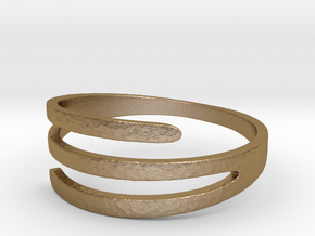 3 Band Ring in Polished Gold Steel