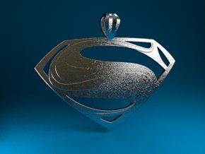 Man Of Steel - Pendant in Polished Bronzed Silver Steel