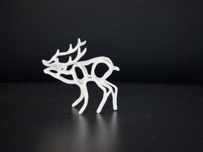 Deer in White Natural Versatile Plastic