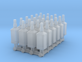 24 1:32 Whiskey Bottles in Smooth Fine Detail Plastic