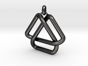 Escher Knot Pendant in Polished and Bronzed Black Steel