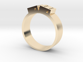 D6 Band in 14k Gold Plated Brass