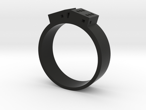 D6 Band in Black Natural Versatile Plastic