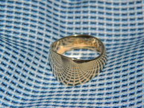 Barrel Ring Size 10 in 18k Gold Plated Brass