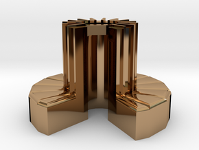1/100-scale Cray-1 Christmas Ornament in Polished Brass