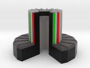 1/100-scale Cray-1 Christmas Ornament in Full Color Sandstone