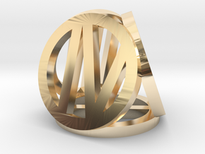 d4 circled Roman number in 14K Yellow Gold