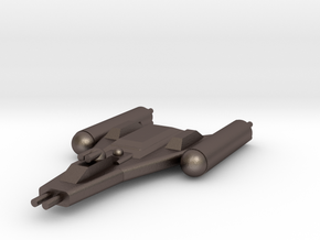 Clone Wars Y-Wing in Polished Bronzed Silver Steel