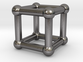 590 Cube V&E (a=10mm) #002 in Polished Nickel Steel