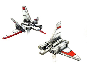"XG-1 Starwing & ""Scrappy Doom"" pack 1/270 in Frosted Extreme Detail"