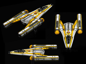 R5CW Y-wing 3-pack 1/270 in Smoothest Fine Detail Plastic