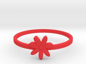 Flower  in Red Processed Versatile Plastic: 4 / 46.5