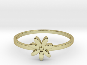 Flower  in 18k Gold Plated Brass: 4 / 46.5