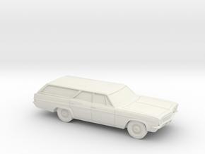 1/87 1966 Chevrolet Impala Station Wagon in White Natural Versatile Plastic