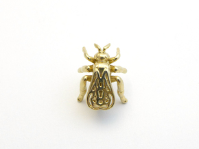 Honeybee Lapel Pin - Nature Jewelry in Polished Brass