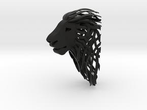 Lion S in Black Natural Versatile Plastic