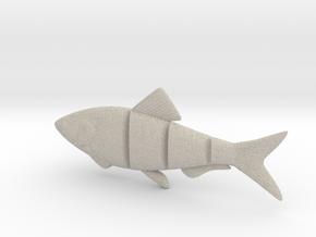 "5"" BiteMe realistic swim bait (master for mold) in Natural Sandstone"