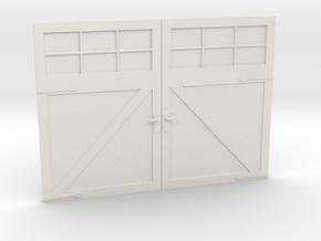 1:24 Scale Settlers Garage Door in White Natural Versatile Plastic