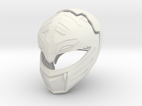 MMPR White Ranger Movie Helmet  in White Strong & Flexible