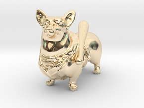 Corgi Negan in 14K Yellow Gold