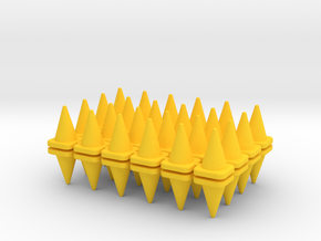 48 Traffic Cones, Large, 1/64 in Yellow Processed Versatile Plastic