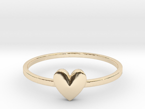 Heart Gem (size 4-13) in 14k Gold Plated Brass: 4 / 46.5