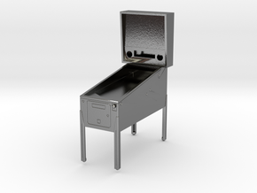 Trophy - Mini Pinball Cabinet v3 - 1:20 Scale in Polished Silver