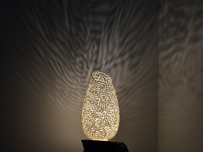Lampshade REACT (Reaction Diffusion) in White Processed Versatile Plastic