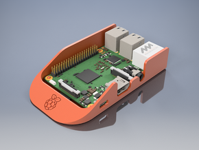Doorstop Raspberry Pi Case in Orange Processed Versatile Plastic
