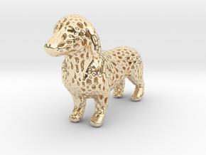 Voronoi Dachshund in 14K Yellow Gold