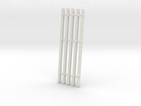 Katyusha Short Right Rails 1:35 scale in White Natural Versatile Plastic: 1:35