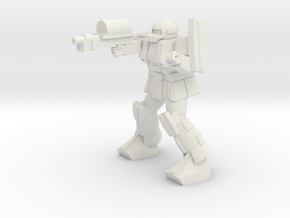 'Pug' A1A Pugnator pose 6 in White Strong & Flexible