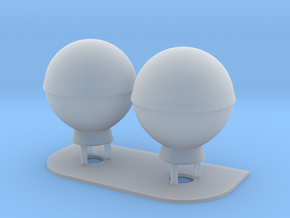 1:144 SatCom Dome Set 3 in Frosted Ultra Detail