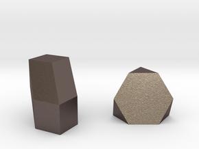 Geometric Rockz  in Polished Bronzed Silver Steel