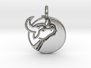 Astrology Zodiac Taurus Sign in Natural Silver