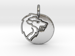 Astrology Zodiac Leo Sign in Natural Silver