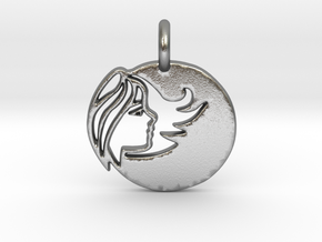 Astrology Zodiac Virgo Sign in Raw Silver